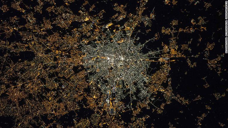 Milan after transition to LED technology in the city center.