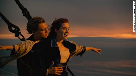 Leonardo DiCaprio and Kate Winslet in 'Titanic'