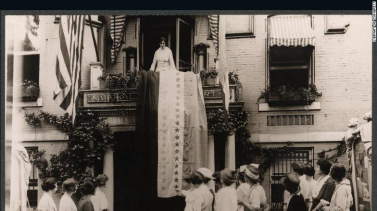 When Tennessee ratified the 19th Amendment in 1920, Alice Paul, head of the National Woman's Party, unfurled the ratification banner from the party's headquarters.