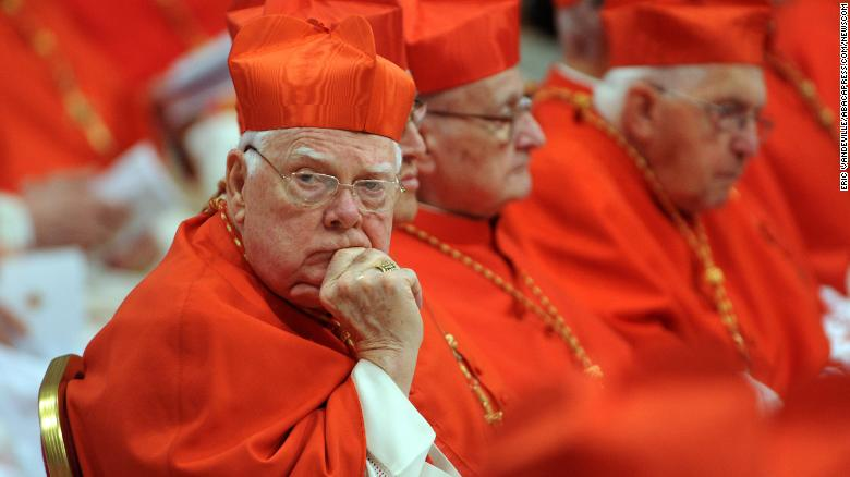 Cardinal Bernard Law, seen here in Novemember 2012 at the Vatican, died after a long illness, the Vatican said Wednesday.