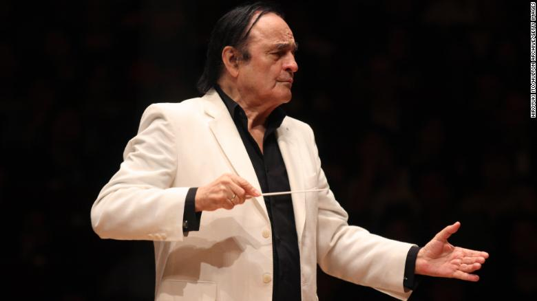 Charles Dutoit conducting the National Youth Orchestra of the United States at Carnegie Hall in July 2015.