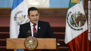 President Jimmy Morales, in Guatemala City last June.