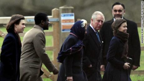 Charles, Prince of Wales, attended the traditional Christmas Day service.