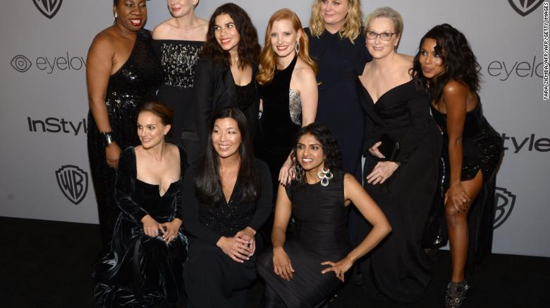 Image result for Women take center stage at powerful Globes ceremony