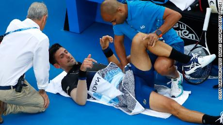 Novak Djokovic needed a medical timeout but said it was nothing serious.