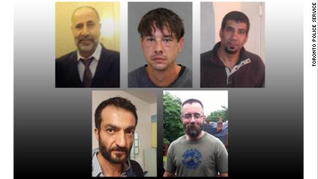 Five of the victims have been identified as, from top left, Majeed Kayhan, 58; Dean Lisowick, 47; Soroush Mahmudi, 50; Selim Esen, 44 and Andrew Kinsman, 49, according to Toronto Police Service.