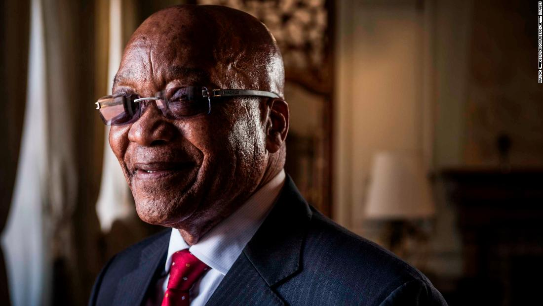 Zuma poses for a photo following a television interview in October 2015.
