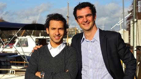 Click&Boat founders Edouard Gorioux (right) and Jérémy Bismuth