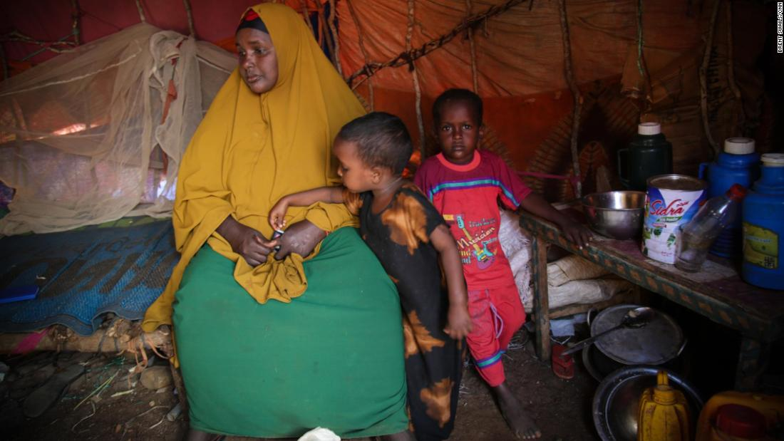 Noori and her children arrived 13 months ago in Baidoa, forced to flee because of fighting between al-Shabaab and government forces.
