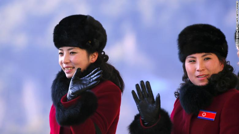 More than 200 young North Korean women have arrived in South Korea to root for athletes from both sides of the peninsula at the Winter Olympics.