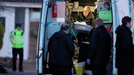 Police activity in Salisbury, England Wednesday March 7, 2018, around the home of former Russian double agent Sergei Skripal.