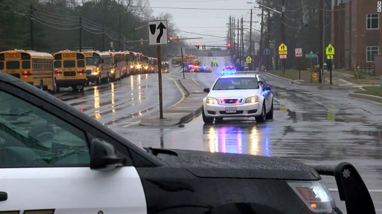 Authorities responded to a shooting at Great Mills High School in Maryland on Tuesday morning.