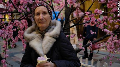 Ariadna Korotkova, 72, hopes that foreign fans will see that Russia isn't just a country of stereotypes.