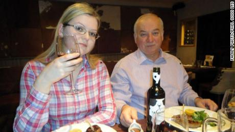 Before the attack, former Russian spy Sergei Skripal and daughter Yulia dine in Salisbury, England.