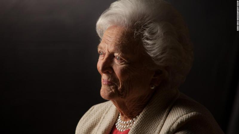 "<a href=""https://www.cnn.com/2018/04/17/politics/barbara-bush-dies/index.html"" target=""_blank"">Barbara Bush</a>, the matriarch of a Republican political dynasty and a first lady who elevated the cause of literacy, died April 17, according to a statement from her husband's office. She was 92."