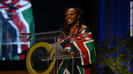 Phyllis Omido receiving the prestigious Goldman Environment Prize in 2015.