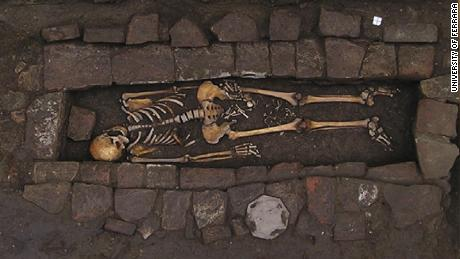 Medieval grave reveals rare 'coffin birth' and neurosurgery