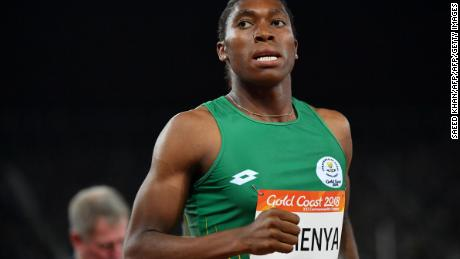 Semenya wins the women's 800m final during the 2018 Gold Coast Commonwealth Games.