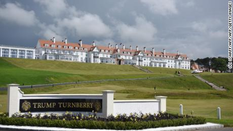 A general view of the Trump Turnberry hotel and golf resort in Turnberry, Scotland.