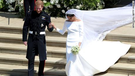 Waight Keller also designed Meghan's spectacular veil, which featured 53 distinctive flora representing each Commonwealth country.