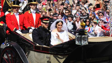 The Duke of Sussex and the Duchess of Sussex were greeted by a ripple of applause.