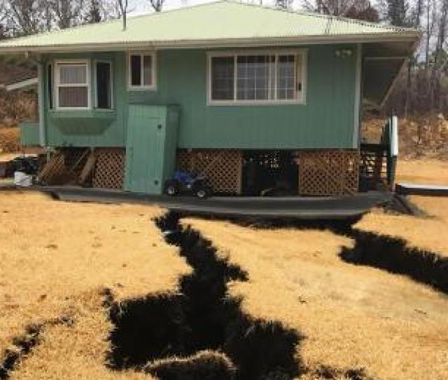 Cracks Open Up Beneath Big Island Home