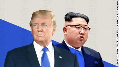 donald trump kim jong un market north korea meeting