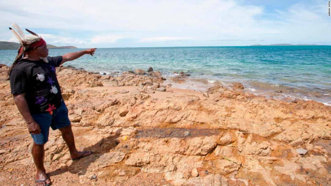 Milton Savage, Chair of the Kaurareg Native Title Aboriginal Corporation, standing on Thursday Island in the Torres Strait, northern Australia.