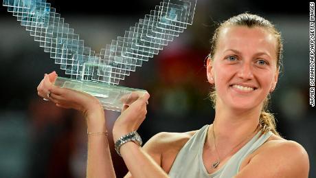 Kvitova won a record third title in Madrid