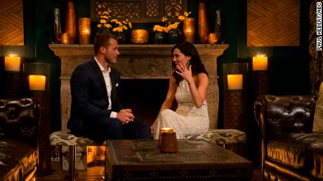 """Underwood, left, with Kufrin on """"The Bachelorette."""""""