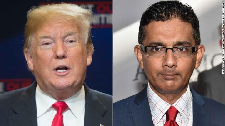 Trump tweets he will give full pardon to Dinesh D'Souza