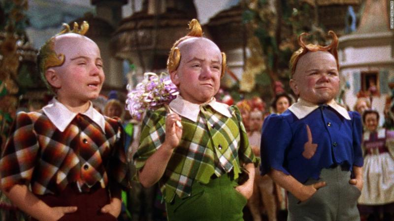 """Actor <a href=""""https://www.cnn.com/2018/06/06/us/jerry-maren-obit-the-wizard-of-oz-trnd/index.html"""" target=""""_blank"""">Jerry Maren</a>, center, died May 24 due to complications from congestive heart failure, according to his family. Maren, 98, was the last surviving munchkin from """"The Wizard of Oz."""""""