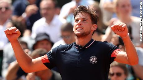 Dominic Thiem advanced to the French Open final by beating Marco Cecchinato.