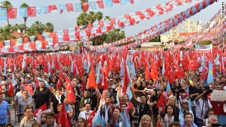 An Aksener rally in the southern Turkish city of Adana.