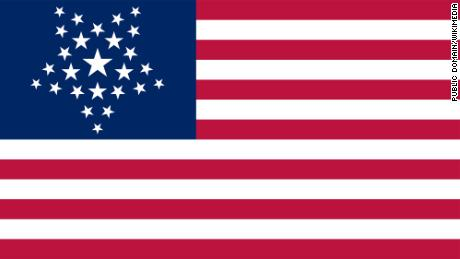 """A number of """"Great Star flags"""" were designed in the 19th and 20th centuries. The most famous was proposed in 1818 for use in the Navy but was rejected by Congress."""