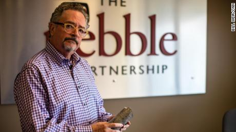 Tom Collier, CEO of the Pebble Partnership, in his office.
