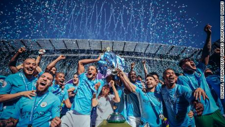 Man City won the Premier League last season by a record margin.