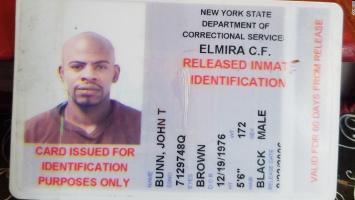 Bunn's prison identification card.