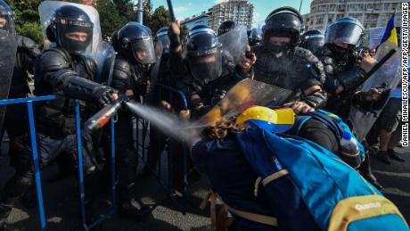 On Friday night, violent clashes broke out between protesters and police.