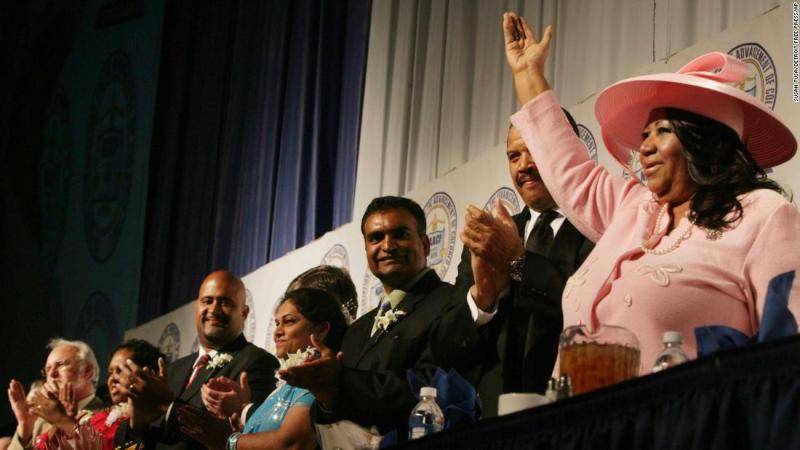 Franklin at The NAACP Freedom Fund Dinner in 2009.