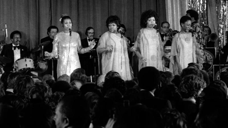Franklin performs at the Inaugural Gala for President Jimmy Carter on January 20, 1977.