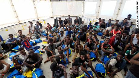 141 migrants were rescued off the coast of Libya, including pregnant women and infants.