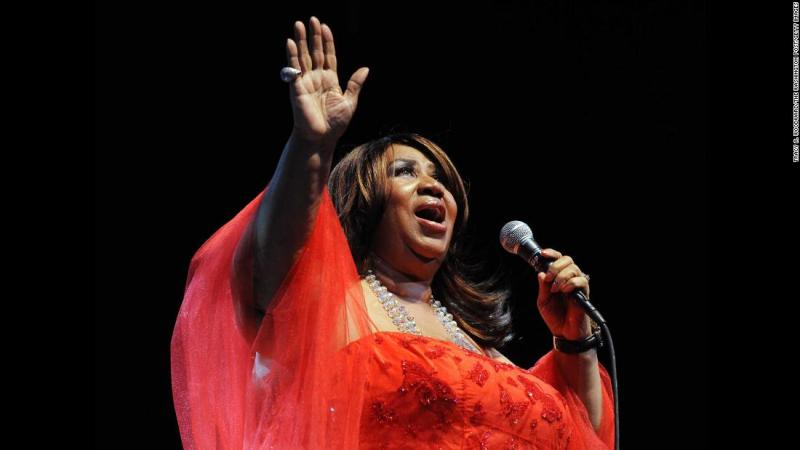 Aretha Franklin performs at the opening of the new Performing Arts Center at Montgomery College in Silver Spring, Maryland, on September 11, 2009.