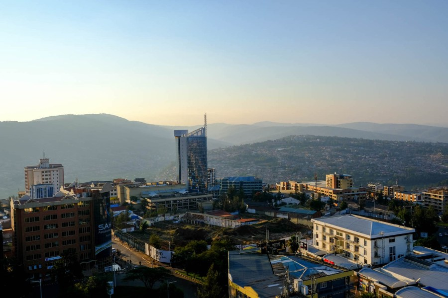 Kigali's expanding skyline. Rwanda has become more financially prosperous and stable under Kagame's leadership, but endemic poverty remains an issue nationwide, with around 51% of the population living under the international poverty line.