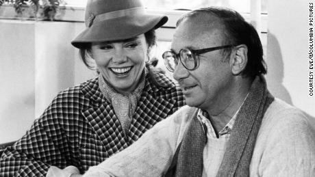 "Neil Simon with Marsha Mason on the set of ""Only When I Laugh"" in 1981."