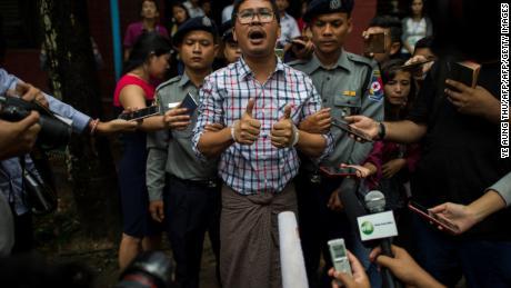 Myanmar: Reuters journalists investigating Rohingya killings sentenced to 7 years in prison