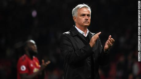 Mourinho applauded fans after United's defeat by Tottenham.