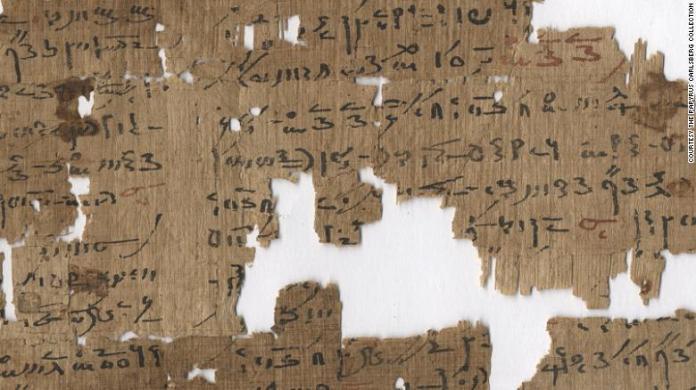 Scritto in una scrittura demotica - la scrittura comunemente usata dal 7 ° secolo aC - questo papiro del II secolo dC offre vari trattamenti per i disturbi anali