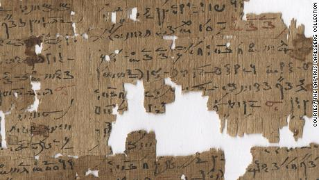 Written in demotic script -- the writing commonly used from 7th Century BC -- this 2nd Century AD papyrus gives various treatments for anal disorders