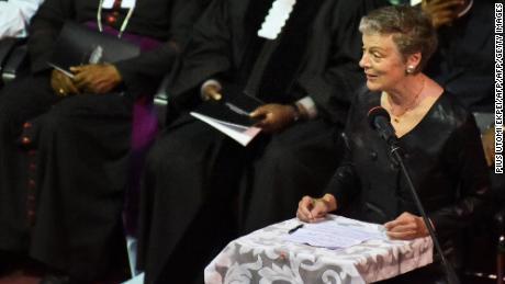 Kofi Annan's widow, Nane Maria Annan at the state funeral on September 13, 2018.